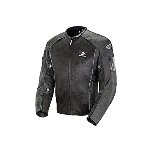 Joe Rocket Marines Recon Mens Mesh Sports Bike Racing Motorcycle Jacket - Black / Large (Recon Motorcycle Gloves)