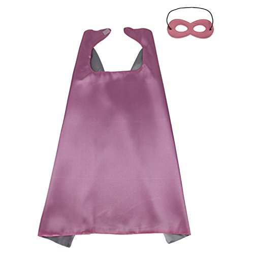 [ReachMe Superhero Dress Up Costumes Cape Mask Set Halloween Costume Party Cloak(Super Girl)] (China Costume For Girls)