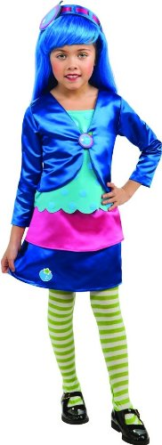 Rubies Strawberry Shortcake and Friends Deluxe Blueberry Muffin Costume, Toddler (Girls Blueberry Muffin Wig)