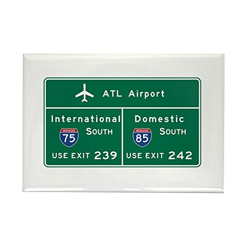CafePress Atlanta Airport, GA Road Sign, US Rectangle Magnet, 2