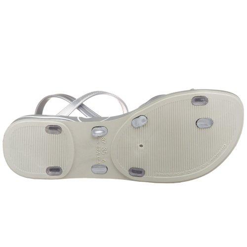 Sandalo Sandalo Donna Giorno Sabbia Grendha Grigio / Trasparente / Argento