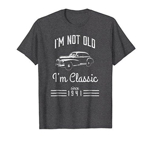Mens Not Old Classic Birthday T-Shirt 77th Birthday Gift 1941 XL Dark Heather