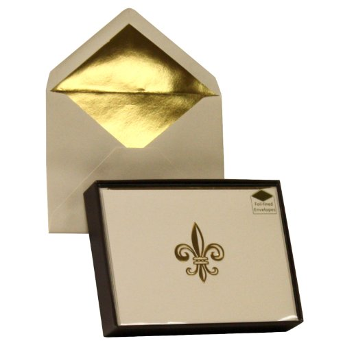 Designer Greetings Monogram Boxed Note Cards - Fleur De Lis (622-00155-003)