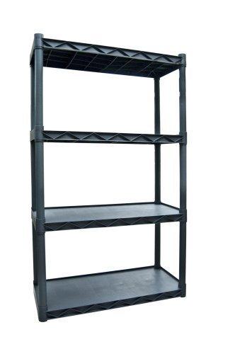 Plano Molding 904 Four-Shelf Utility Shelving, Dark Gray by Plano Molding - Four Utility Shelves