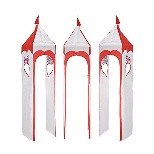Turm für Hochbett Spielbett Turmstoff Turm Stoff-Set, Motiv  Meine Liebe, Farbe  Rot   Weiß
