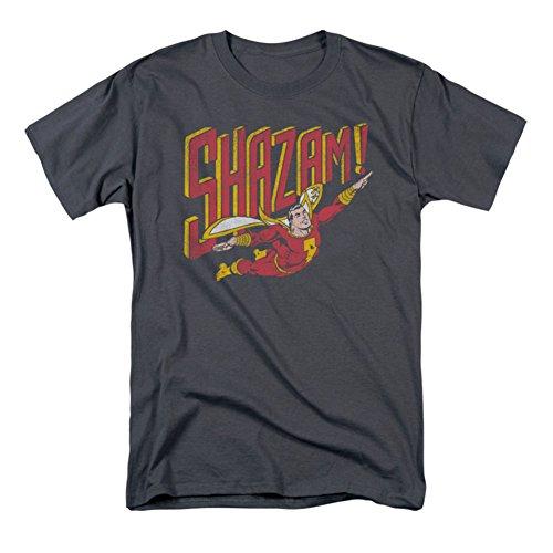 Marvel+Comics+Retro+Shirt Products : Shazam Retro Flight Charcoal T-Shirt
