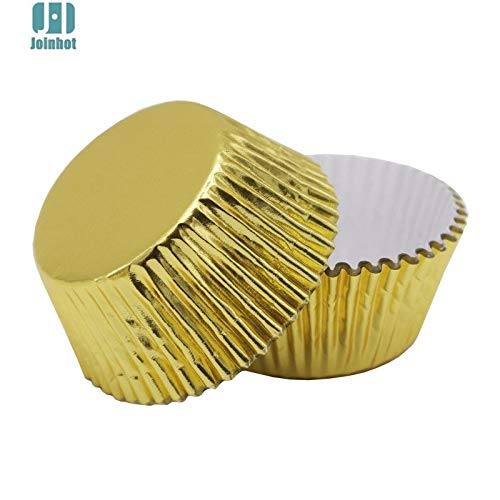 1 lot 100 pcs/lot Pure Color Gold sliver green blue Foil Paper Cupcake Liners Cupcake wrappers Cake Decorating Tools Baking Cups
