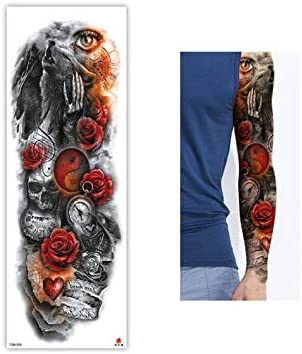 Tatuaje opaco Brazos adhesivos Old School Flash Tattoo Stickers ...