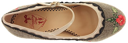 Dancing Days - Zapatos de vestir de Material Sintético para mujer Brown Tweed