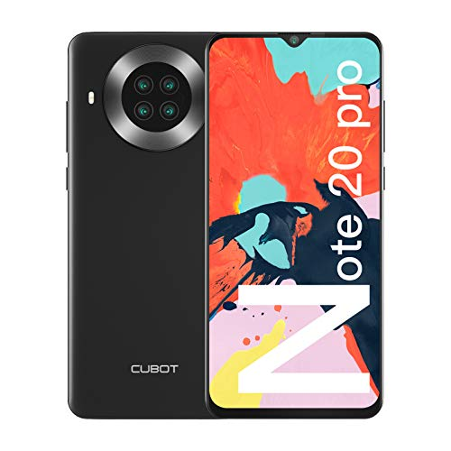 "CUBOT Note 20 Pro Móviles Libres, 128GB + 8GB Smartphone, Pantalla 6.5"" HD+, 20MP Quad cámara, Android 10.0 Teléfono…"