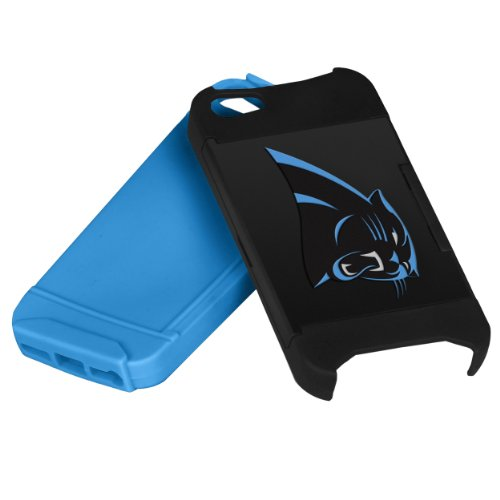 Forever Collectibles NFL Hideaway Credit Card iPhone 5 Hard Case - Retail Packaging - Carolina Panthers