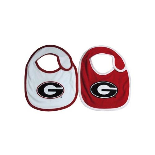 Game Day Outfitters NCAA Georgia Bulldogs Infant Bib Logo (2 Piece), One Size, Multicolor