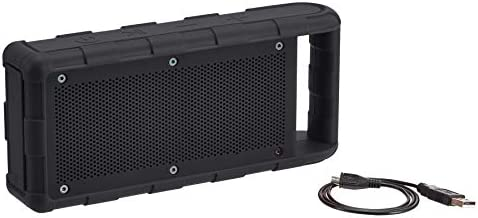 Amazon Fundamentals Moveable Out of doors IPX5 Waterproof Bluetooth Speaker – Black, 15W