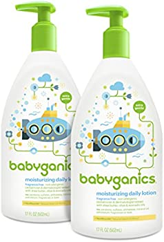 2-Pack Babyganics Moisturizing Daily Baby Lotion (17 Oz)