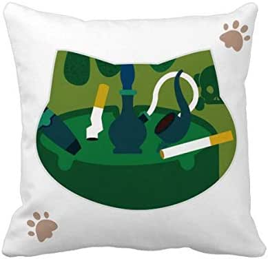 OFFbb-USA Logo Cigarette is A Drug Cat Throw Pillow Square Cover