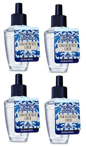 (Bath and Body Works 4 Pack Sun-Drenched Linen Wallflowers Fragrance Refill. 0.8 fl)