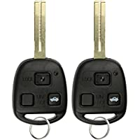 KeylessOption Keyless Entry Remote Control Uncut Car Key Fob Replacement for HYQ12BBT (Pack of 2)