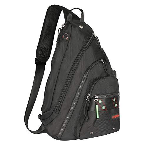 c339b41e459 Sling Backpack, Sling Bag for Laptop, Crossbody Bag for Men, Larswon Shoulder  Bag