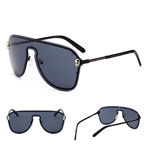 gafas la lente de las XIAPENGLos de gafas protector de del la de C1 de grandes rodean sol hombres de pieza caja sola una cráneo qawUa7ETx