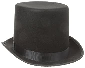 Jacobson Hat Company Men's Adult Permalux Tall Top Hat (7 Inch Tall), Black, Adult