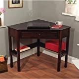Best TMS Writing Desks - Espresso Corner Writing Desk, Multiple Finishes Lower Shelves Review