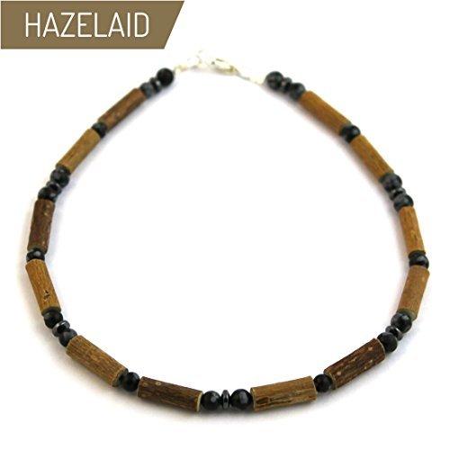 Hazelaid (TM) Child Hazelwood-Gemstone Necklace - 13.5'' Black Obsidian by HAZELAID