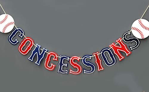 (Baseball Concessions gender reveal pennant banner- Baseball Party supplies -Baseball themed party supplies)