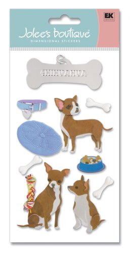 Jolee's Boutique Le Grande Dimensional Stickers, Chihuahua