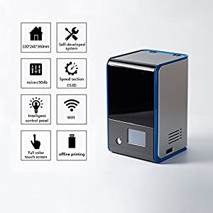 SLA 3D Printer LD series UV resin LCD light 405nm 120×70×120 mm for dental and jewelry from Aifande