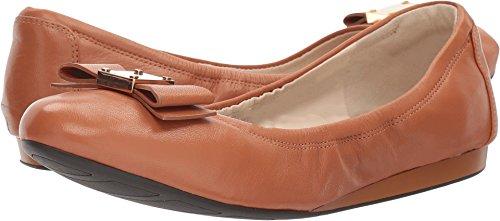 Cole Haan Women's Tali Bow Ballet Flat, British Tan Leather, 7 B US