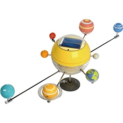 OWI OWI-MSK679 The Solar System Solar Kit, Solar-Paneled Driven Motor; 6 Colors of Opaque Acrylic Paint, Plus Brush: Toys & Games