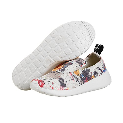 Dude Shoes Womens Chloe White Multi Slip On Multi Colour