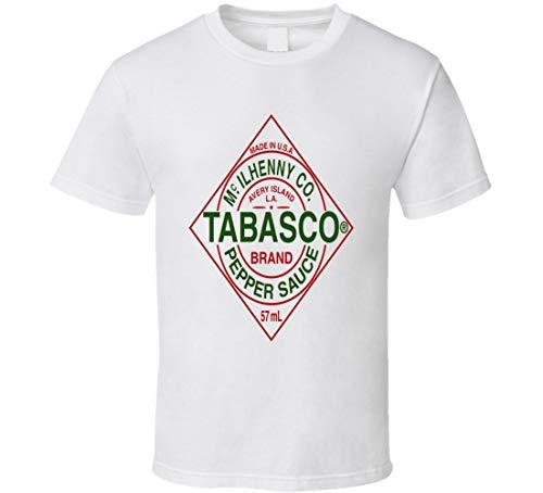 Tabasco hot Pepper Sauce Buffalo Wings Food Brand t-Shirt ()