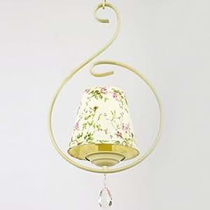 Fashion Flowers Fabric Restaurant Pendant Light European Kitchen Pendant Lamp Balcony Hallway Pendant Lamps