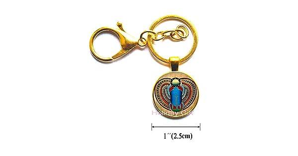 Amazon.com: Llavero de Scarab egipcio, joyería de Scarab ...