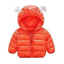 PLENTOP Chlidren Boys Winter Warm Coats Jacket Kid Zipper Thick Hoodie Outerwear Clothes