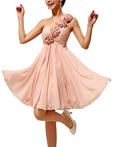 Shoulder One Abendkleider LF4011 Partykleider Kurze Kleider Chiffon Lactraum Ballkleider qtATwBH