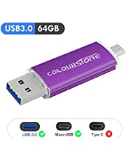 Clés USB, Colourstone High Speed Micro USB 2.0 32GB Flash Thumb Pen Drive Stick Mémoire pour Android Smartphones Tablettes PC Computers