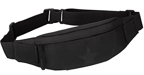 (ArcEnCiel Military Tactical Waist Pack for Men Fanny Pack Fishing Bags Army Money Belt Sport Travel Cycling Mobile Phone Pouch (Black))