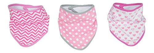 [Little Beginnings Baby Girls 3 Piece Bandana Bibs, Pink] (Minnie Mouse Nose)