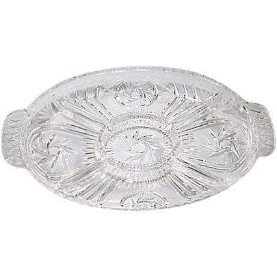 Handcut Crystal Oval Relish/Appetizing Dish - Pinwheel … Dish Pinwheel