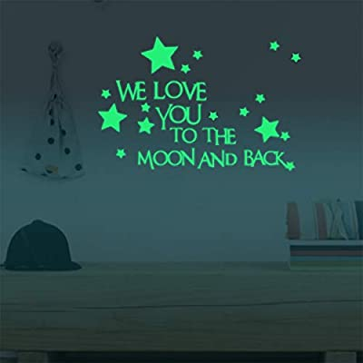 Homics Glow in The Dark Wall Decals Luminous Ceiling Sticker Decor for Kids' Bedroom