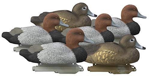 Higdon Outdoors Standard Red Head Duck Decoys, Foam Filled