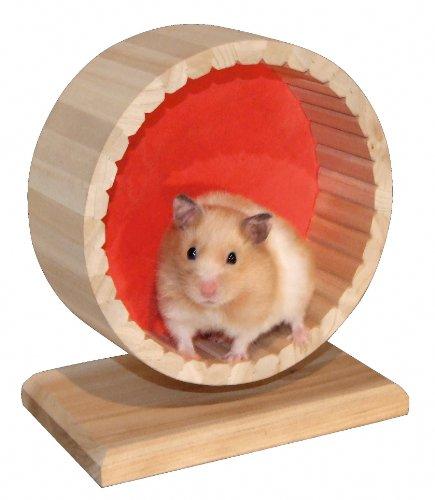 Kerbl 82798 Hamsterlaufrad mit Ständer, 6 x 11 x 15 cm.