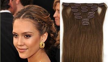 Amazon clip in hair extensions 8 medium brownmedium ash clip in hair extensions 8 medium brownmedium ash brown 7pc set 22inch pmusecretfo Choice Image