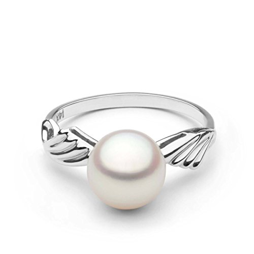Ascend Collection - Ascend Collection Akoya Cultured Pearl Ring - 14k White Gold - Ring Size 5