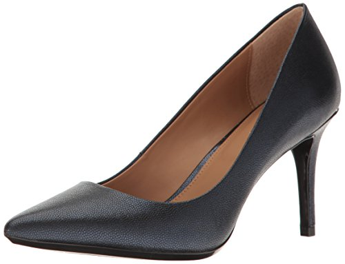 Pump Navy Leather -  Calvin Klein Women's Gayle Pump, Navy - 6 B(M) US