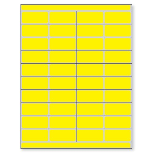 PDC Healthcare DPSL-PC2-2 Piggyback Paper Patient Charge Laser Label, 2'' Width x 0.875'' Length, 8.5'' x 11'' Sheet, Yellow (Box of 10000) by PDC Healthcare