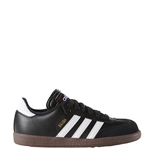 Adidas Samba Classic - Zapatillas de fútbol de piel, Negro/blanco, 14 MX M Niño pequeño