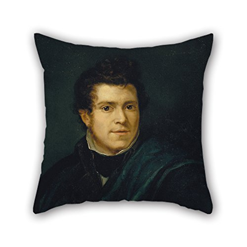artistdecor-18-x-18-inches-45-by-45-cm-oil-painting-pelegra-clavac-self-portrait-cushion-cases-doubl